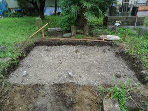 基礎工事の地盤の完成