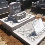 G488で作られた洋型のお墓が完成です。