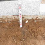 地面から30㎝ほど堀り下げる