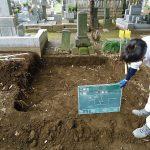 地面から30㎝掘り下げ基礎をつくります。