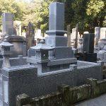 完成した和型のお墓(側面)