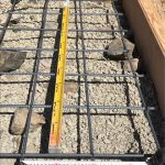 コンクリートを流し込む前に配筋を組んだ状況