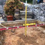 地面を30㎝掘り下げた状況