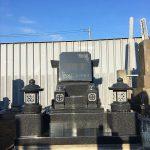 河北山崎でつくられた洋型のお墓