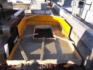 コンクリートが固まったら基礎工事完了