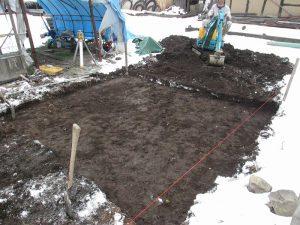 根掘り完了